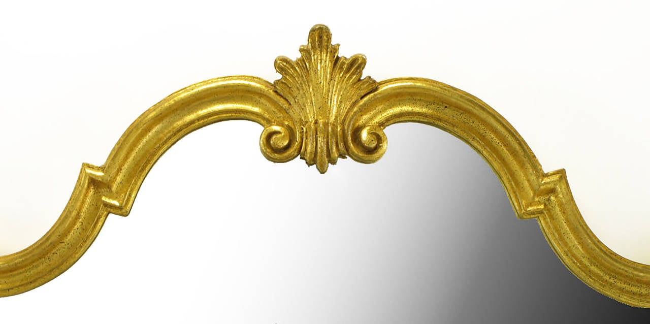 Italian gilt composite wood and gesso rococo wall mirror by italian gilt composite wood and gesso rococo wall mirror by florentia 3 amipublicfo Images