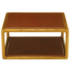 Ward Bennett Ash Coffee Table With Elephant Hide Insets