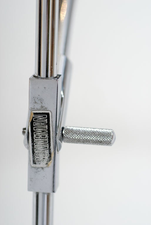 Wall Lamp Adjustable Arm : Chrome Sonneman Adjustable Arm Wall Lamp For Sale at 1stdibs
