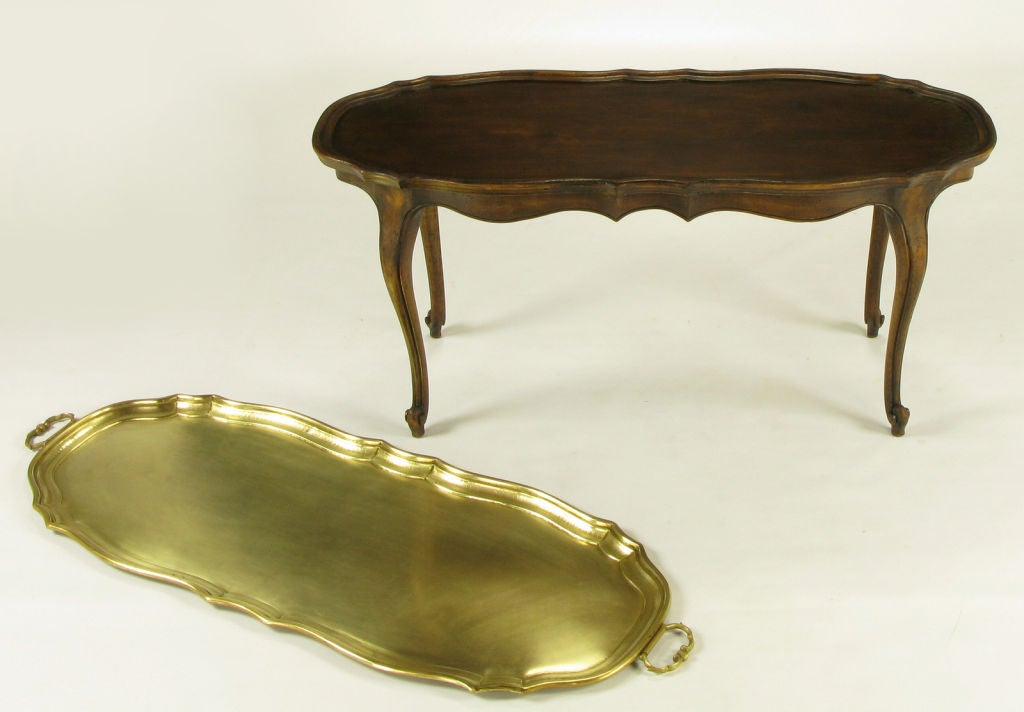 Yale Burge Louis Xv Style Coffee Table With Solid Brass
