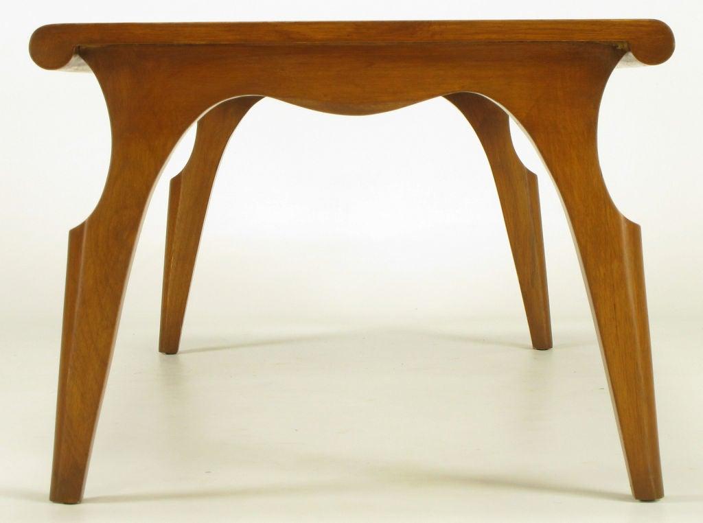 Walnut John Van Koert Casa del Sol Collection Coffee Table For Sale