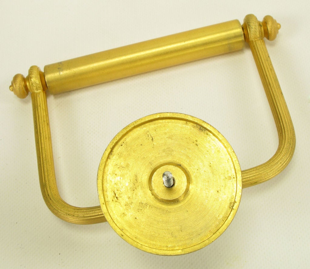 Sherle Wagner Malachite And Gold Plated Bathroom Paper Holder At 1stdibs