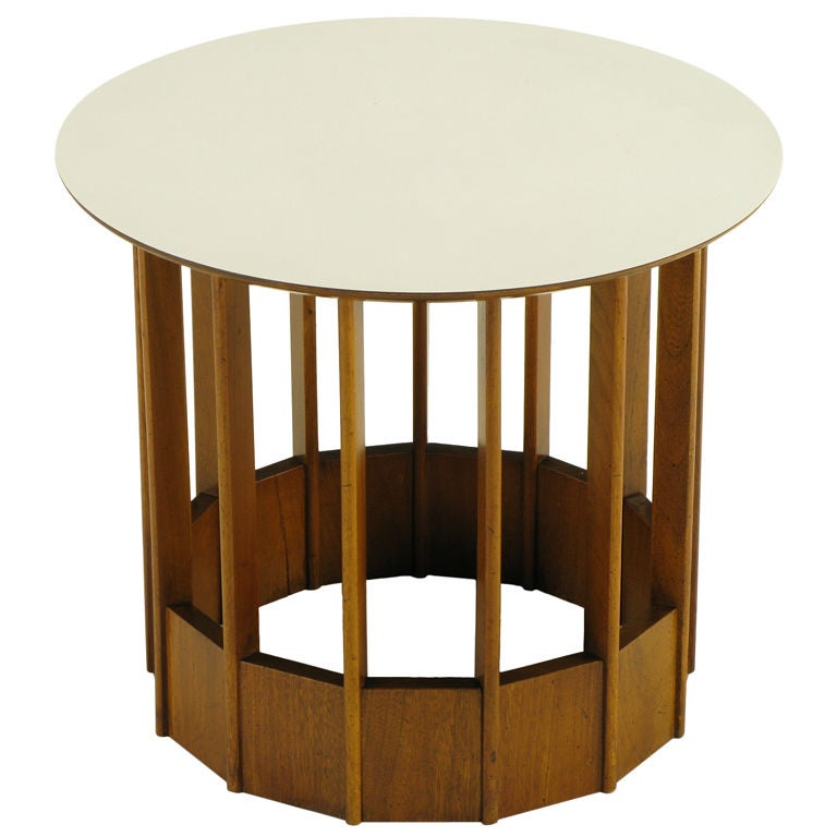 this hickory furniture modern mahogany micarta side table is no