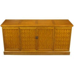 Heritage Harlequin Parquetry Front Bleached Mahogany Sideboard