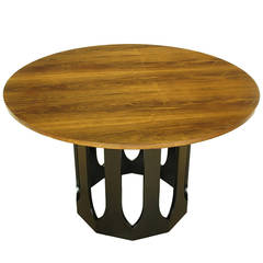 Harvey Probber Rosewood Game Table Or Center Table With Decagon Base