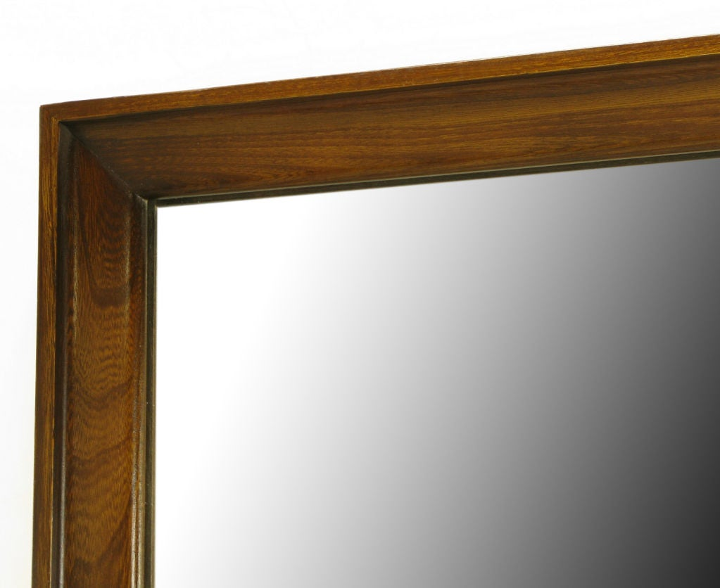 red lion table modern mahogany framed mirror at 1stdibs