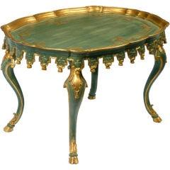 Italian Parcel Gilt & Sea Green Regency Table