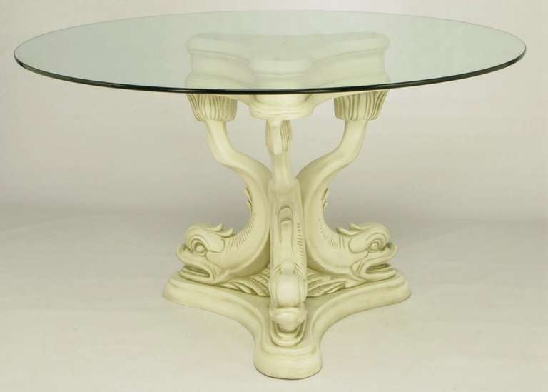 Regency Style Dolphin Dining Table In Glazed Ivory Lacquer  : 841912686896573l from www.1stdibs.com size 768 x 549 jpeg 19kB