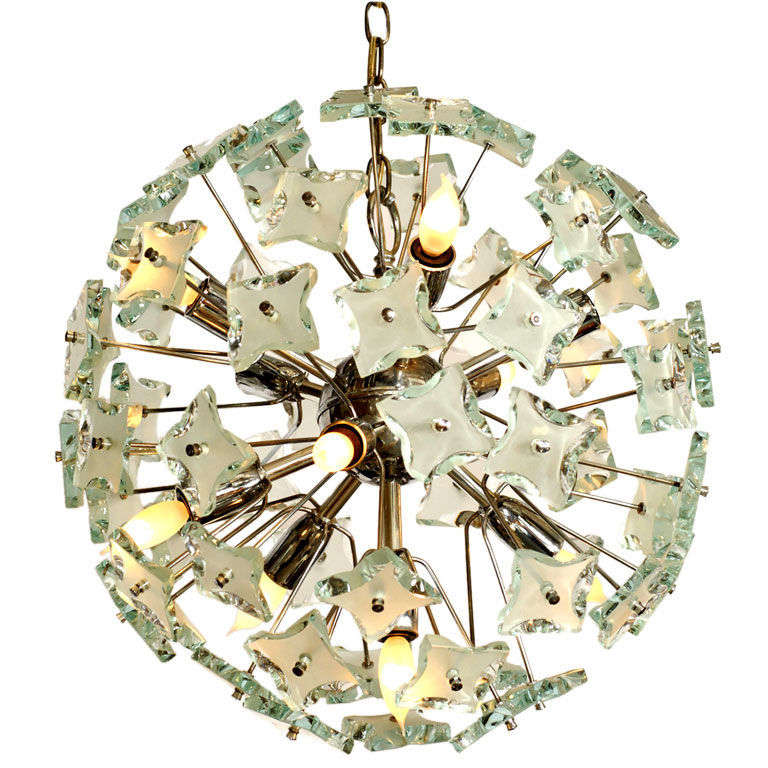 Chrome & Glass Ball Chandelier