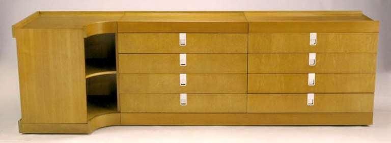 Brian Palmer for Baker Bird's-Eye Maple Modular Cabinet For Sale 3