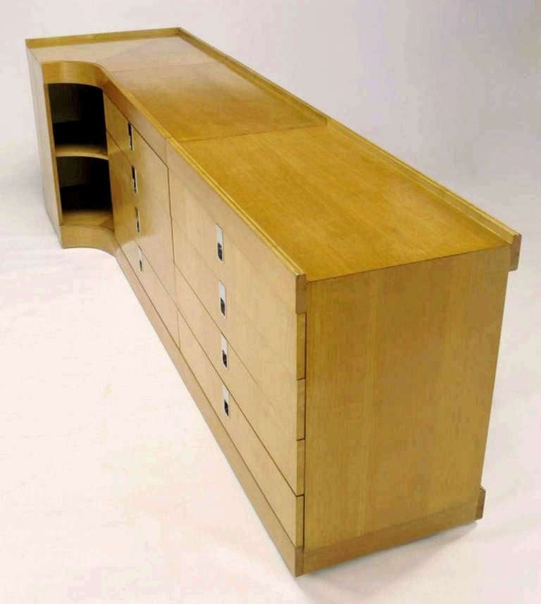 Brian Palmer for Baker Bird's-Eye Maple Modular Cabinet For Sale 4