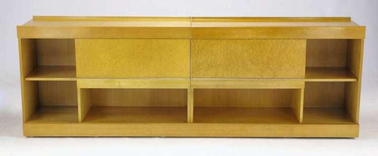 American Brian Palmer for Baker Bird's-Eye Maple Modular Cabinet For Sale