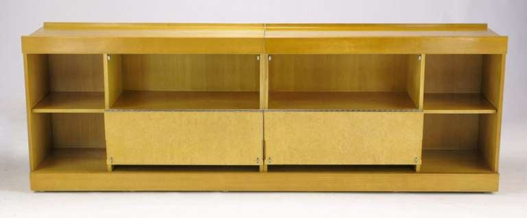 Brian Palmer for Baker Bird's-Eye Maple Modular Cabinet In Good Condition For Sale In Chicago, IL