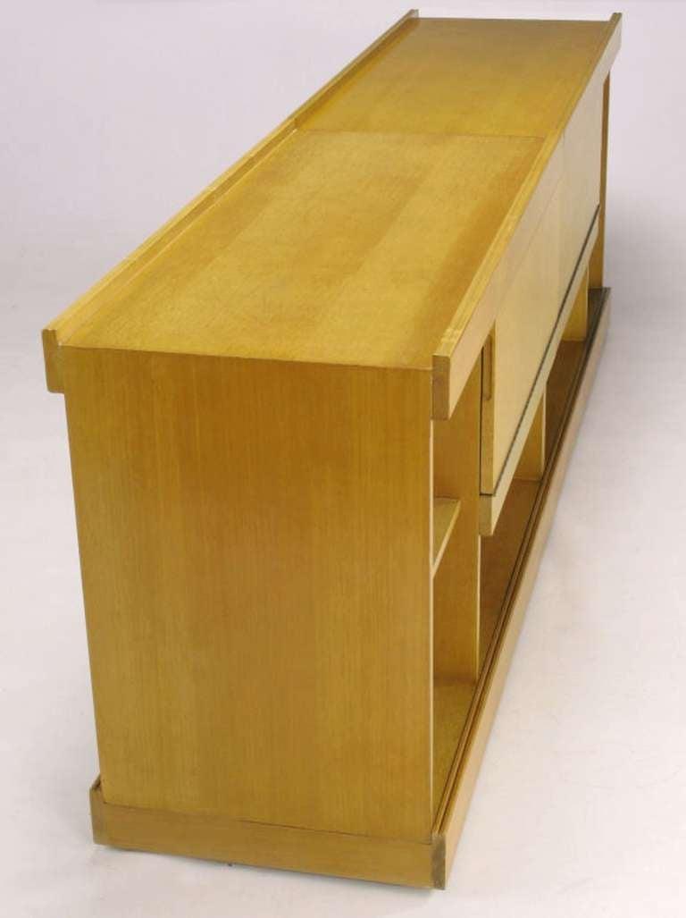 Late 20th Century Brian Palmer for Baker Bird's-Eye Maple Modular Cabinet For Sale