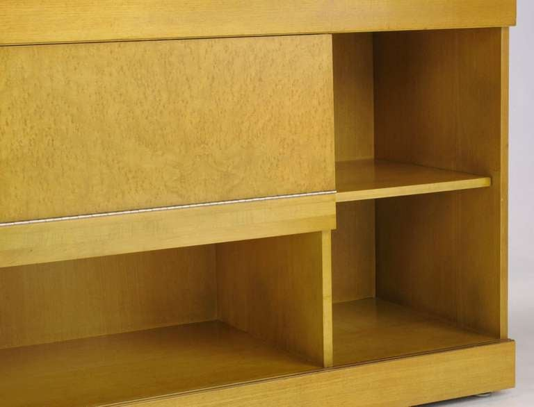 Birch Brian Palmer for Baker Bird's-Eye Maple Modular Cabinet For Sale