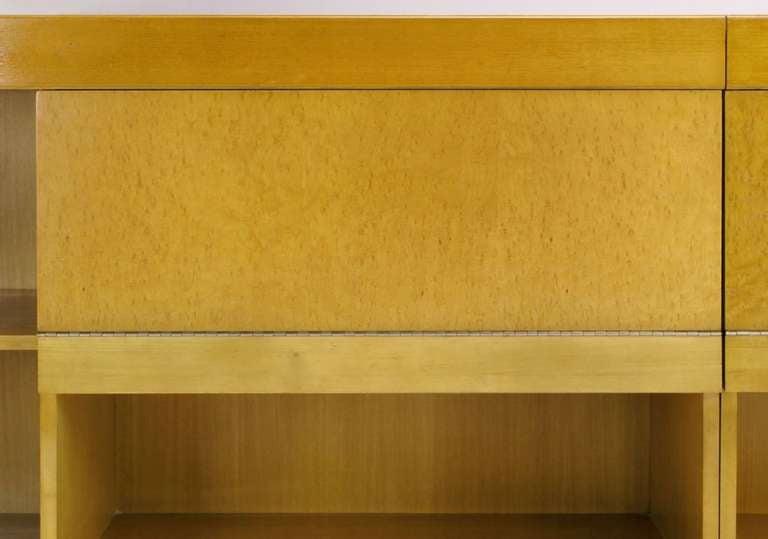 Brian Palmer for Baker Bird's-Eye Maple Modular Cabinet For Sale 1