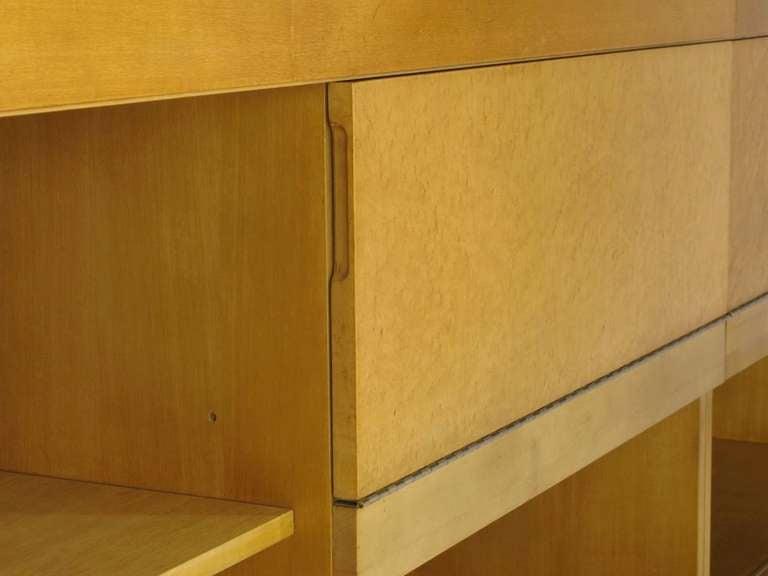 Brian Palmer for Baker Bird's-Eye Maple Modular Cabinet For Sale 2