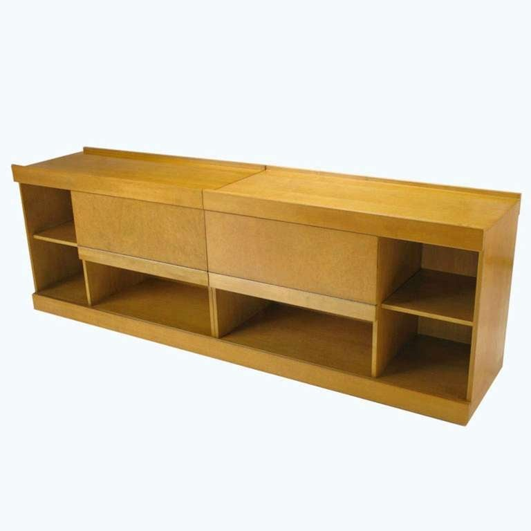 Brian Palmer For Baker Birdseye Maple Modular Cabinet For ...