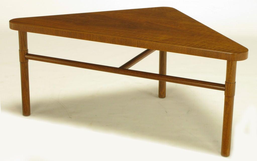Bert England Forward Trend Walnut Triangular Coffee Table At 1stdibs