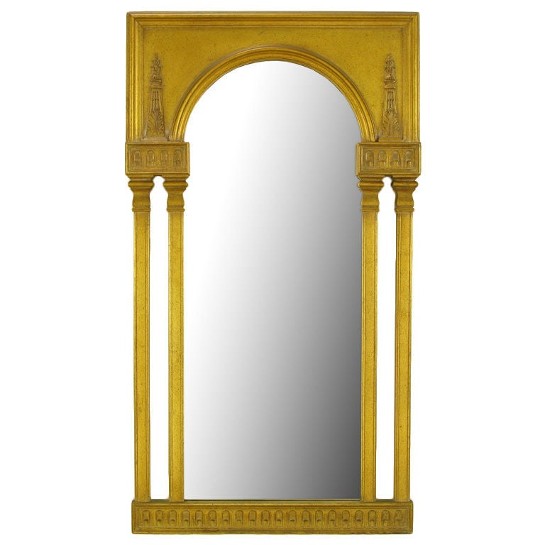 unusual gilt neoclassical style mirror at 1stdibs