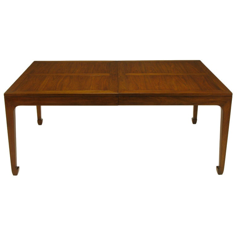 Baker far east figured parquetry walnut dining table at for Home dec far east ltd