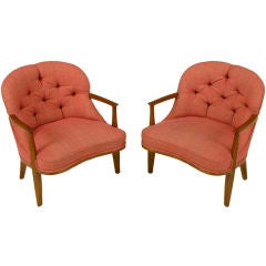 Pair Edward Wormley Janus Collection Lounge Chairs