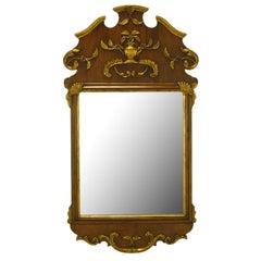 Carved Walnut Parcel-Gilt Italianate Mirror