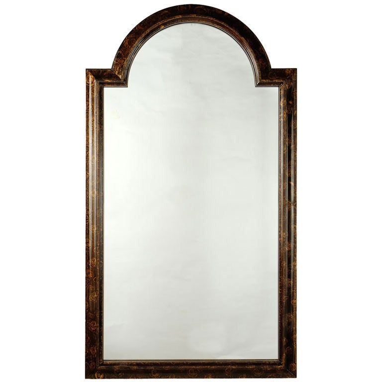 Labarge Palladian Arch Top Mirror In Faux Tortoise Finish