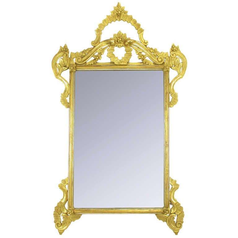 "60"" Italian Hand Carved & Gilt Wood Mirror."