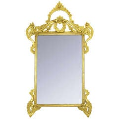 "60"" Italian Hand Carved & Gilt Wood Mirror."