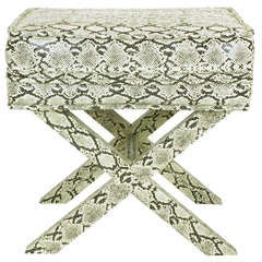 Faux Python X-Base Stool After Billy Baldwin.