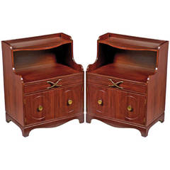 Pair of Grosfeld House Mahogany Nightstands