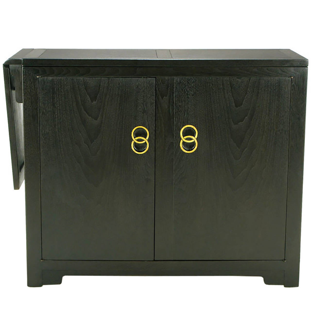Michael Taylor for Baker Custom Bar with Built-In Refrigerator