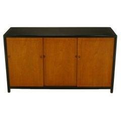Michael Taylor For Baker Natural & Ebonized Mahogany Cabinet
