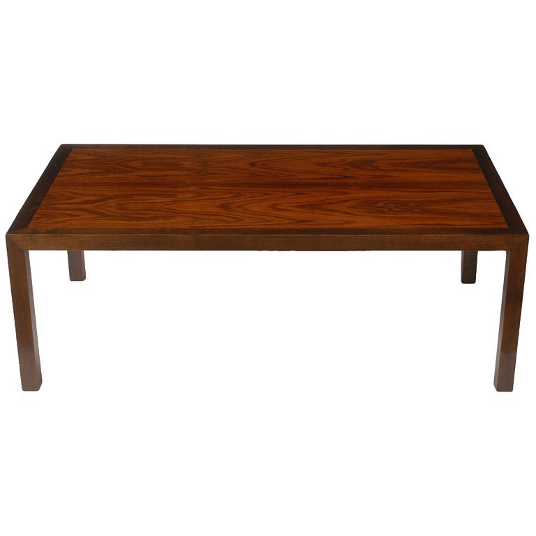 Edward Wormley For Dunbar Walnut And Rosewood Coffee Table At 1stdibs