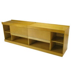 Brian Palmer For Baker Birdseye Maple Modular Cabinet