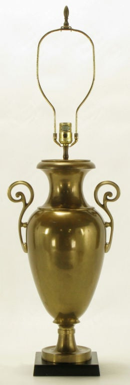 Mid-Century Modern Chapman Brass Urn Form Table Lamp, circa 1972 For Sale