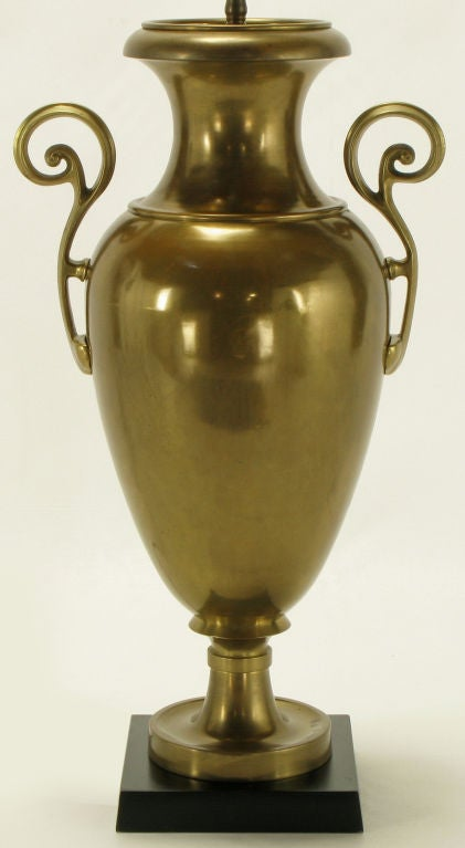 American Chapman Brass Urn Form Table Lamp, circa 1972 For Sale