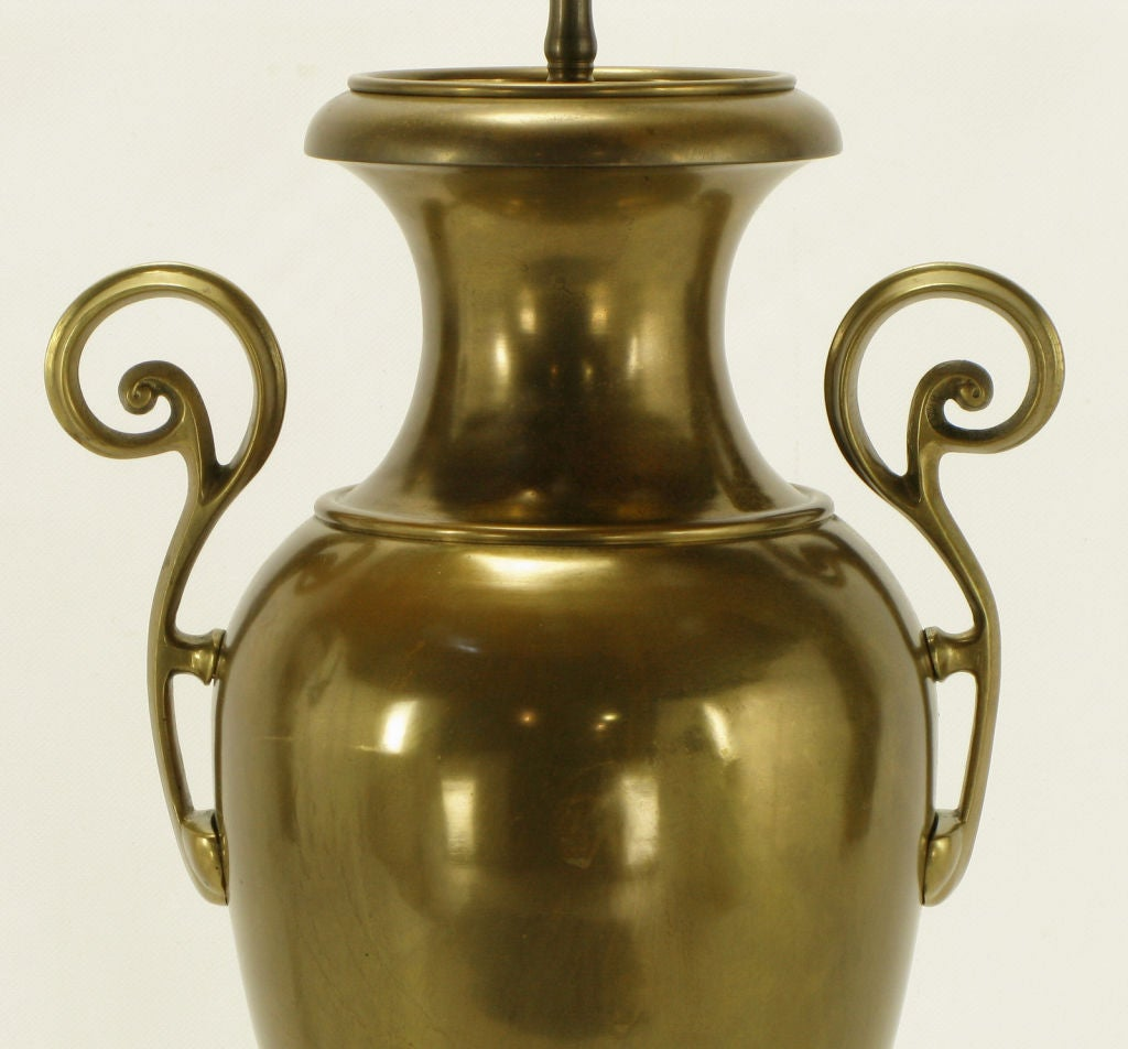 Late 20th Century Chapman Brass Urn Form Table Lamp, circa 1972 For Sale
