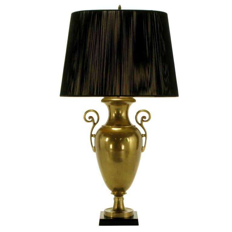 Chapman Brass Urn Form Table Lamp, circa 1972 For Sale