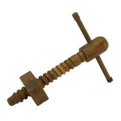 Vintage Carved Wood Screw Press