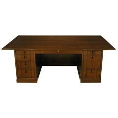 Edward Wormley Walnut & Rosewood Executive Desk