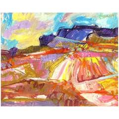 """Jean Krille' """"Utah '88"""" Acrylic on Art Board"""