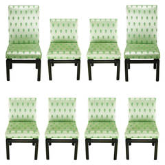 Eight Baker Far East Collection Floating Dining Chairs