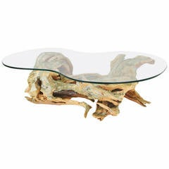 Driftwood Form, Cast Resin Coffee Table