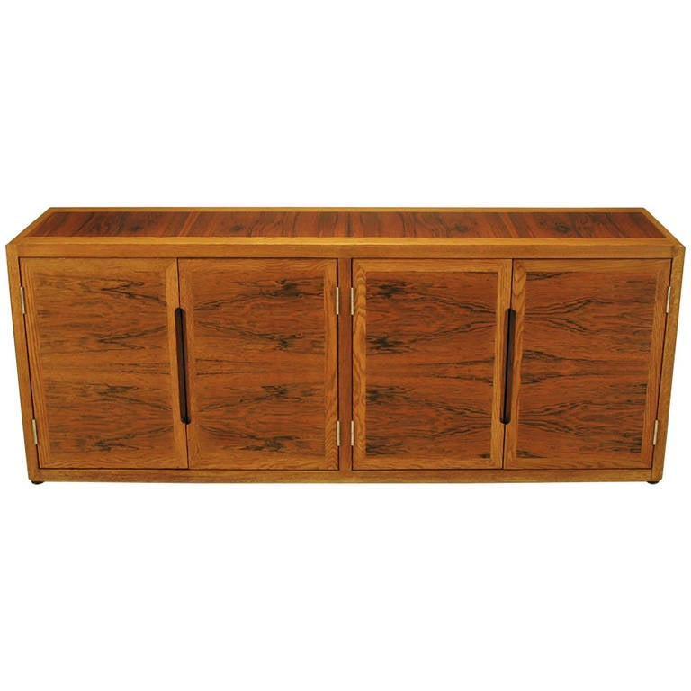 Dunbar Rosewood and White Oak Credenza For Sale
