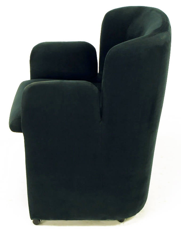 Suede Barrel Back Arm Chair By Preview Furniture