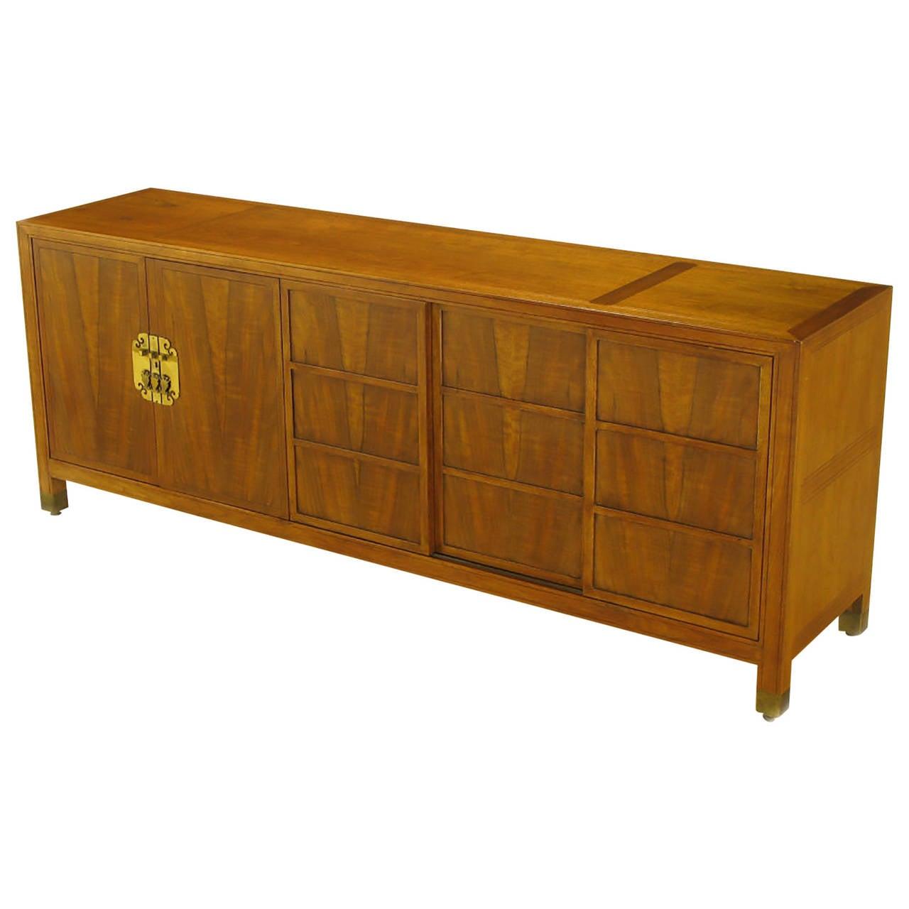 Frank Van Steenberg for Baker Far East Collection Walnut Sideboard