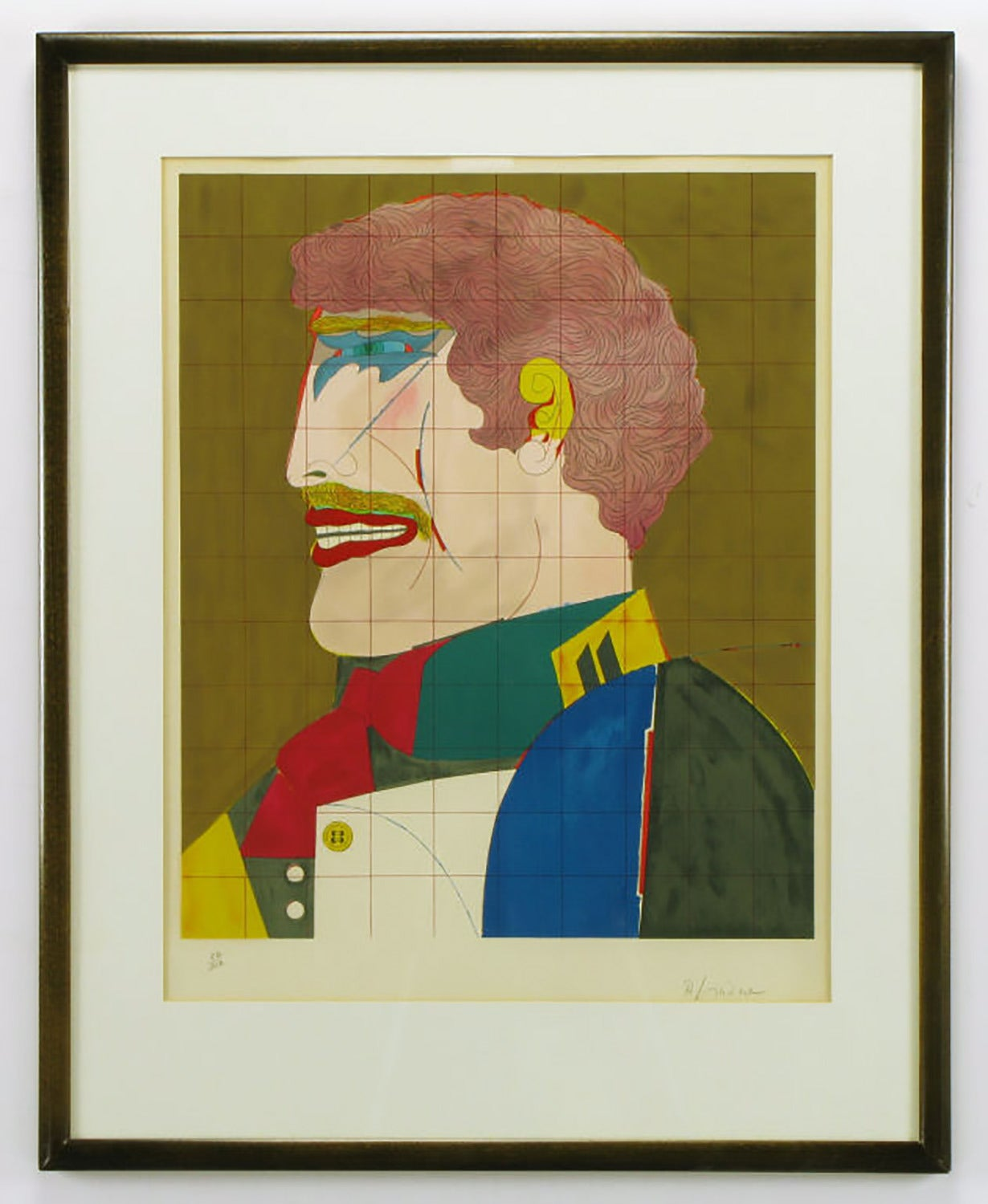 Richard Lindner (1901-1978) signed and numbered lithograph of a male portrait, entitled