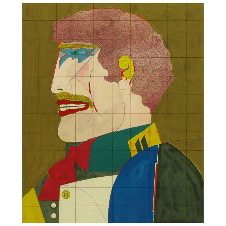 "Richard Lindner Signed Lithograph Titled ""Profile"" For Sale"